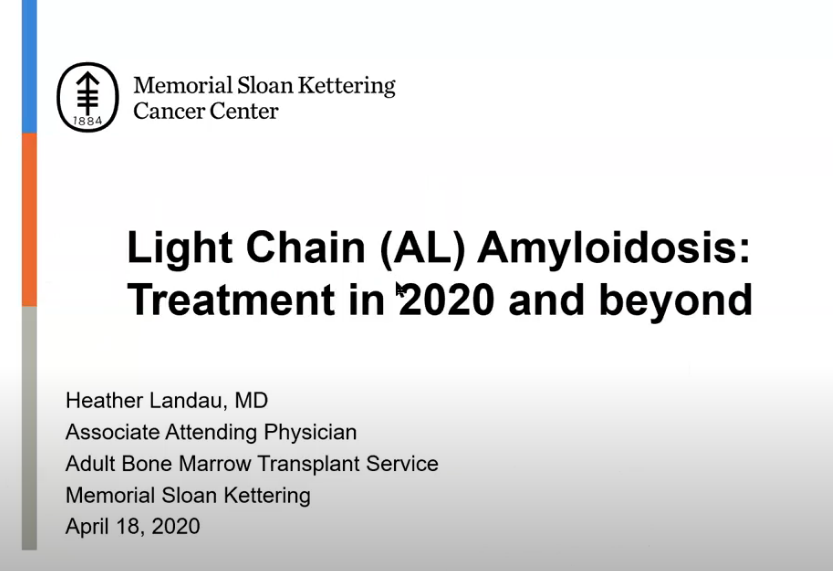 Light Chain (AL) Amyloidosis: Treatment In 2020 And Beyond – Webinar