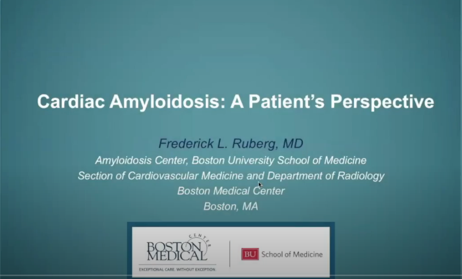 Cardiac Amyloidosis: A Patient's Perspective – Webinar