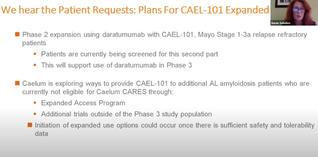 Webinar Presentation By Susan Sobolov On CAEL-101 Update